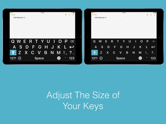 Two phone keypads with left side being bigger in font.