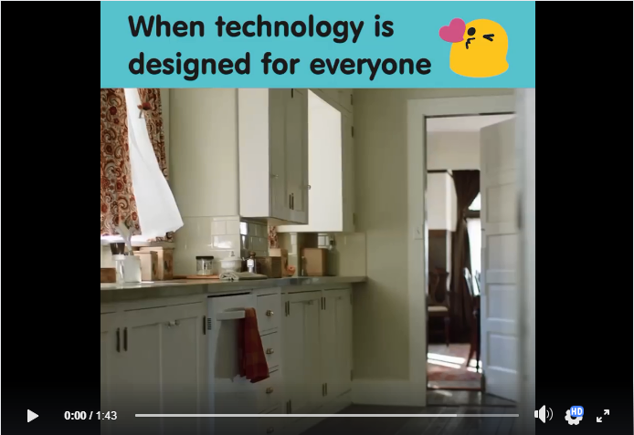 A video about how technology can assist people with disabilities