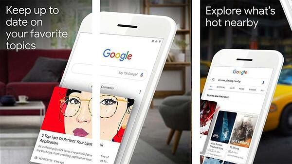Google assistant bringing up an article on a white Iphone