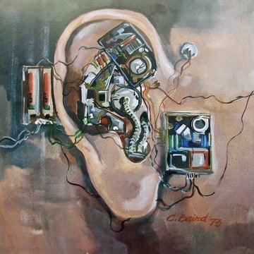 """Deaf Art Piece """"Mechanical Ear"""""""